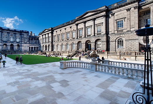 Edinburgh University Old College Quad quad, after refurbishment.